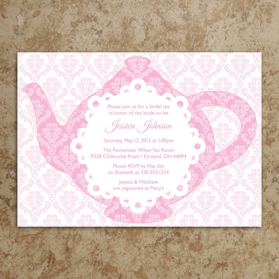 Tea Party Shower Invitations
