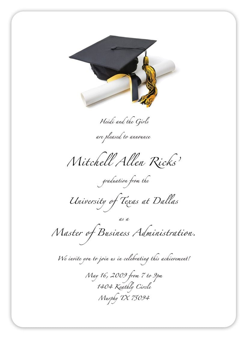 Templates   Clasic Free Printable Graduation Party Invitations