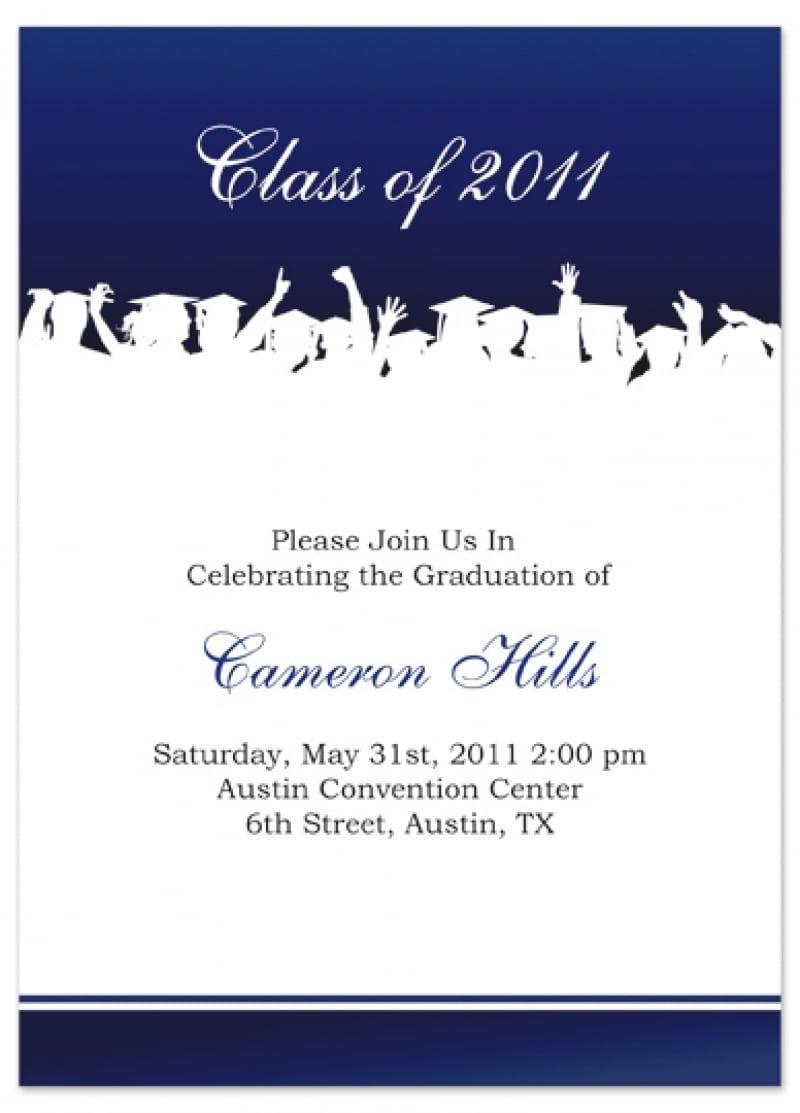 Templates   Printable College Graduation Party Invitations