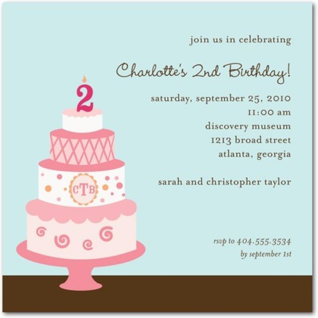 Text Invitation Birthday Party
