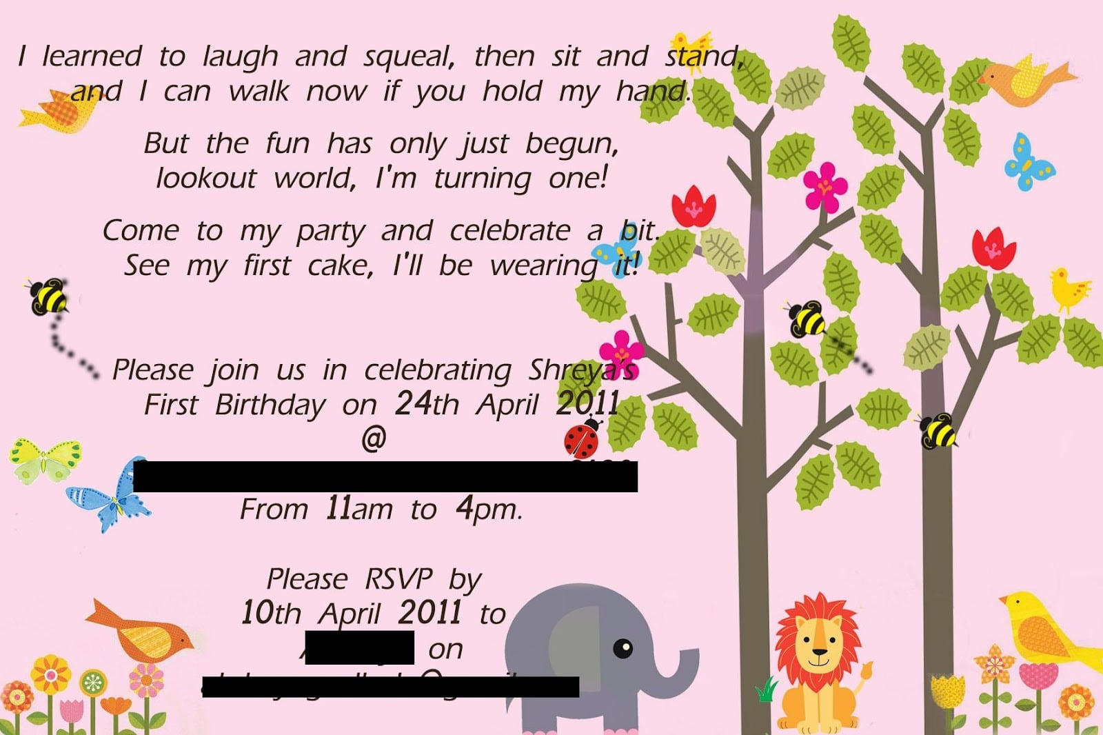 The Craft Gallery   Birthday Party Invitations