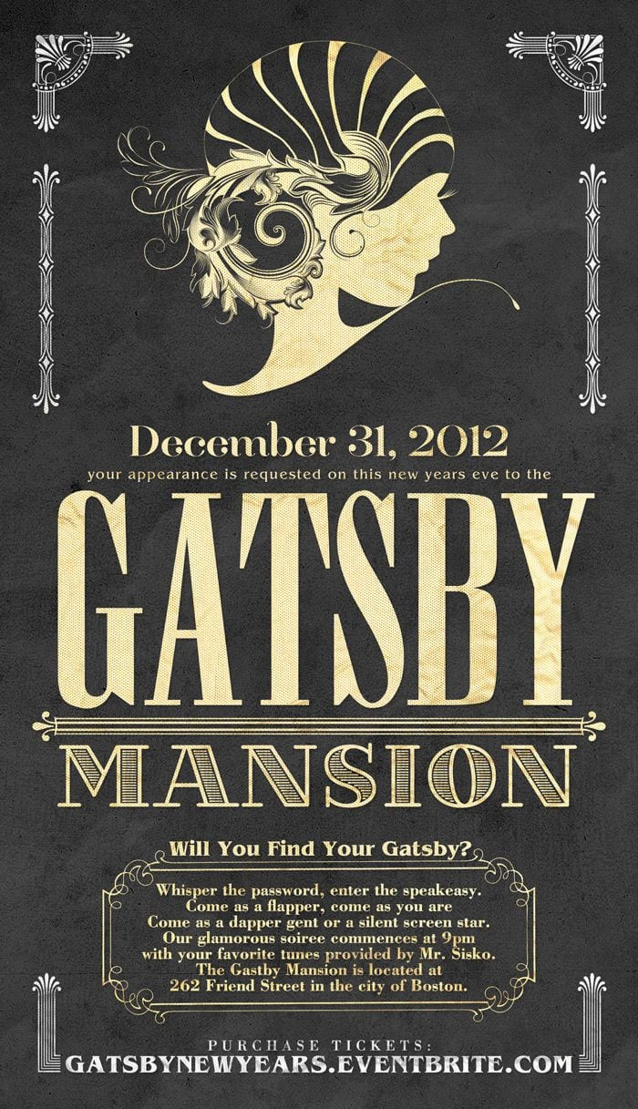 The Gatsby Mansion New Years Eve Party