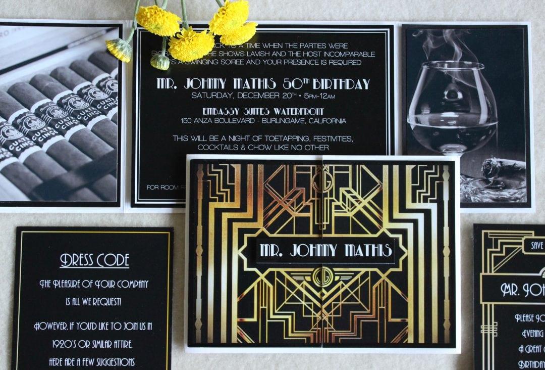 The Great Gatsby 1920's Theme Birthday Party Invitation – Tanja