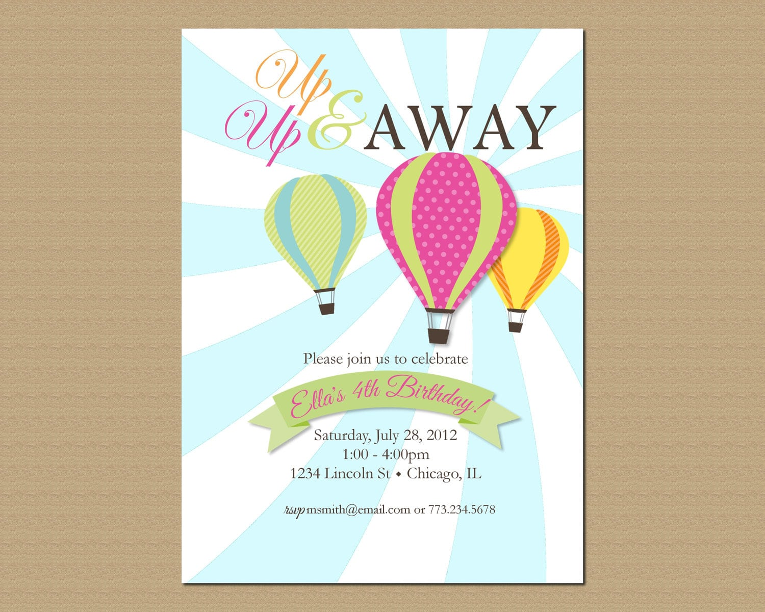 Themes Baby Shower   Printable Hot Air Balloon Baby Shower