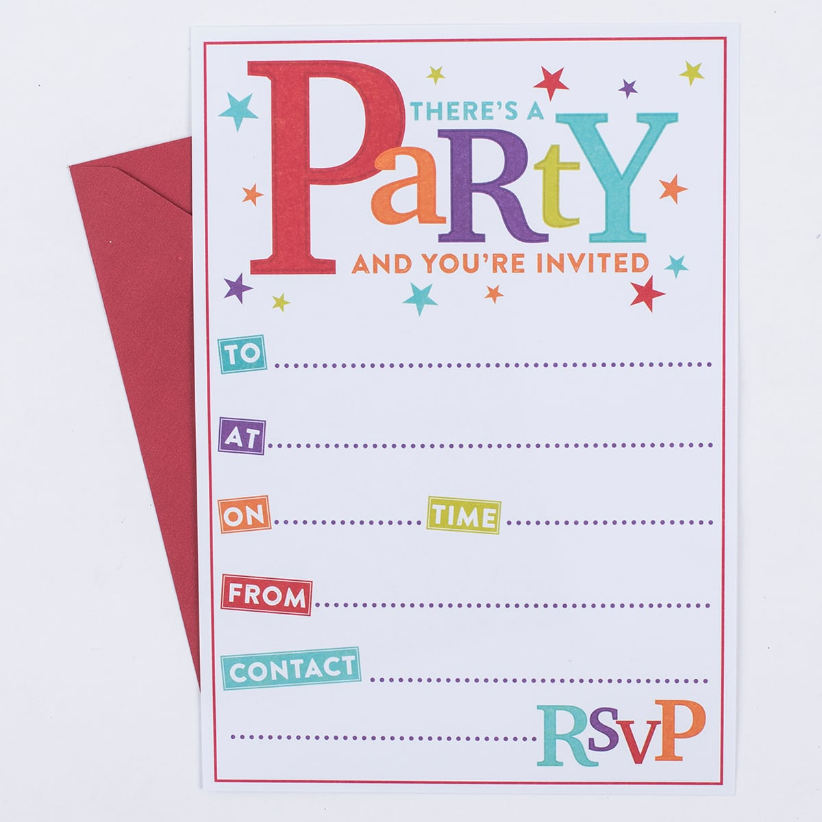 There's A Party Invitations, Pack Of 20