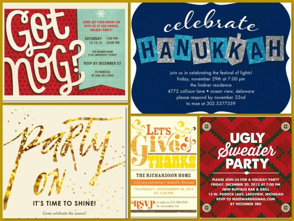 Tiny Prints Fall & Winter Holiday Party Invitations