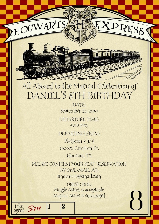 Top 18 Harry Potter Birthday Party Invitations