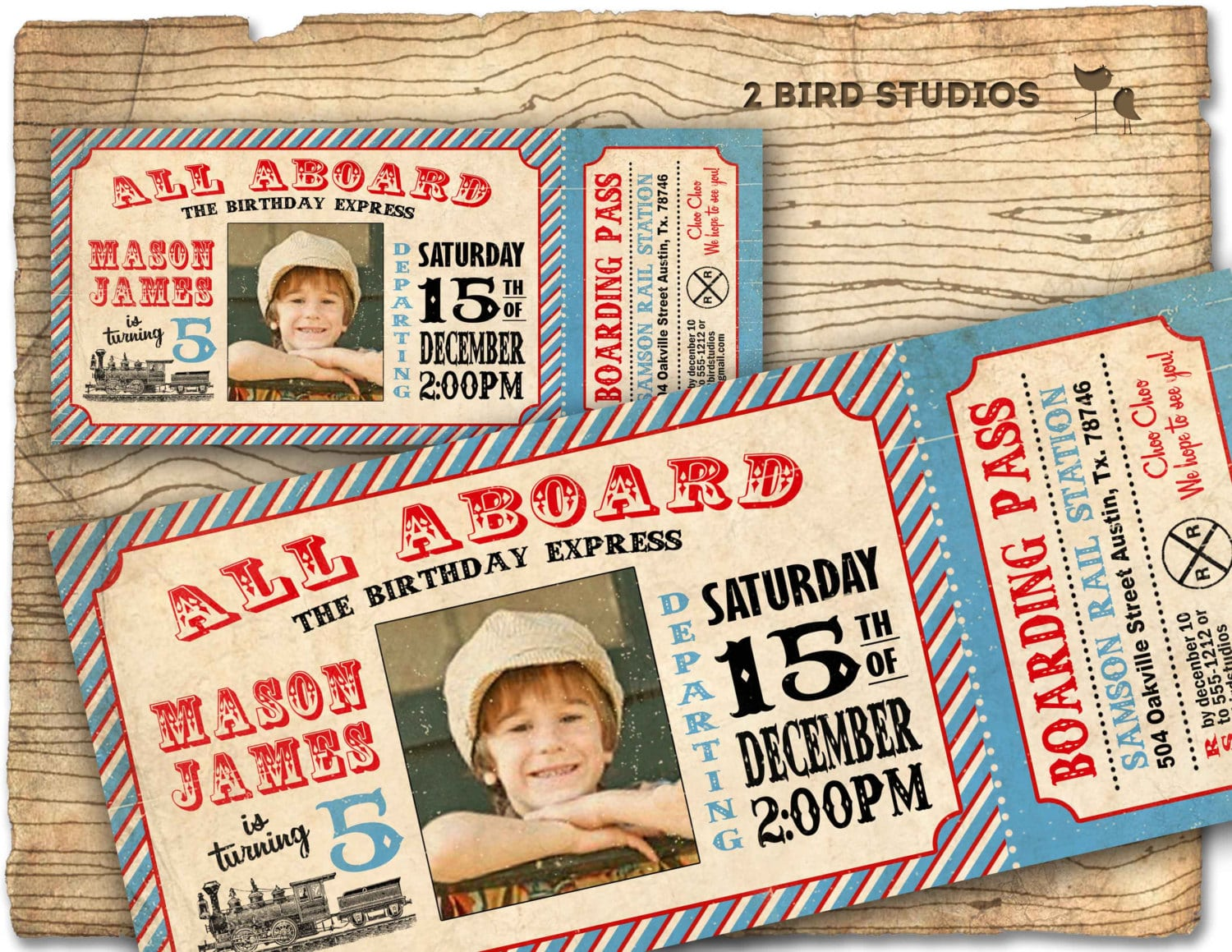 Train Ticket Birthday Party Invitations