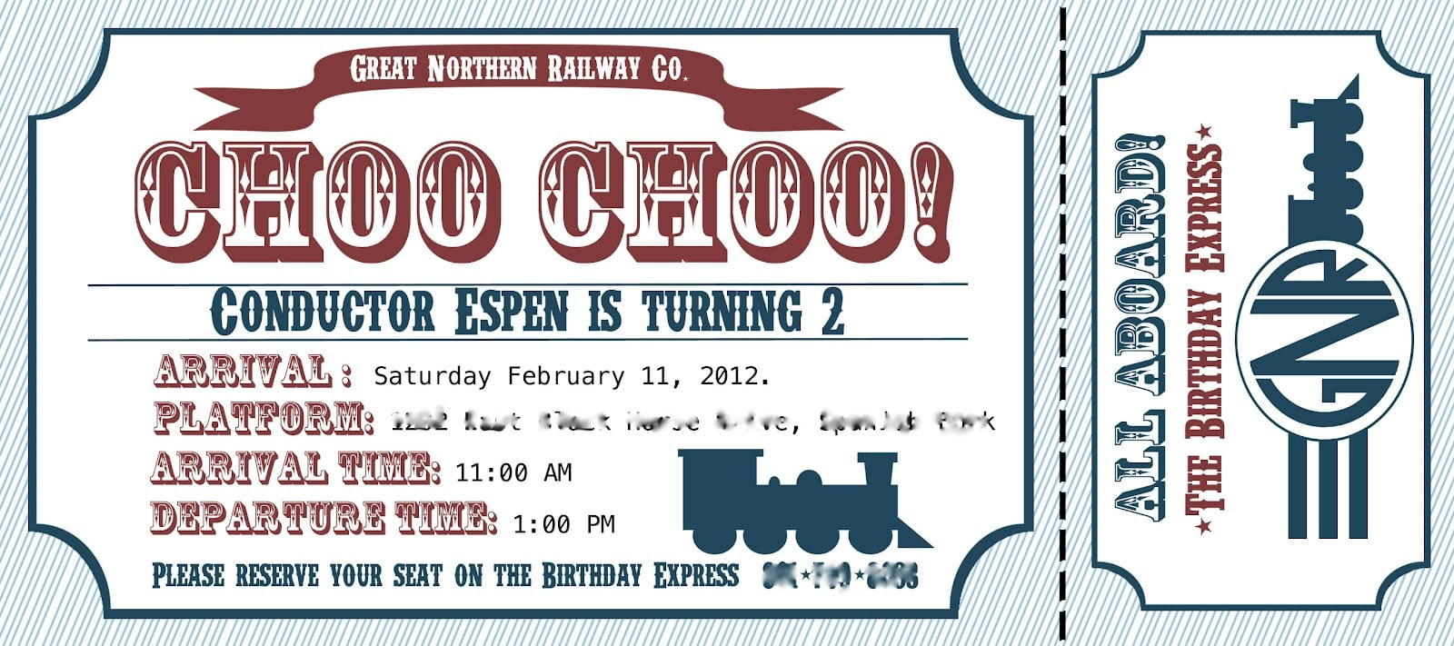 Train Birthday Party Invitations Ideas