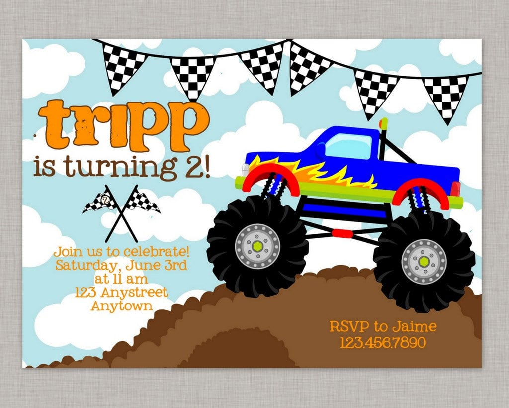 Truck Birthday Party Invitations Gallery