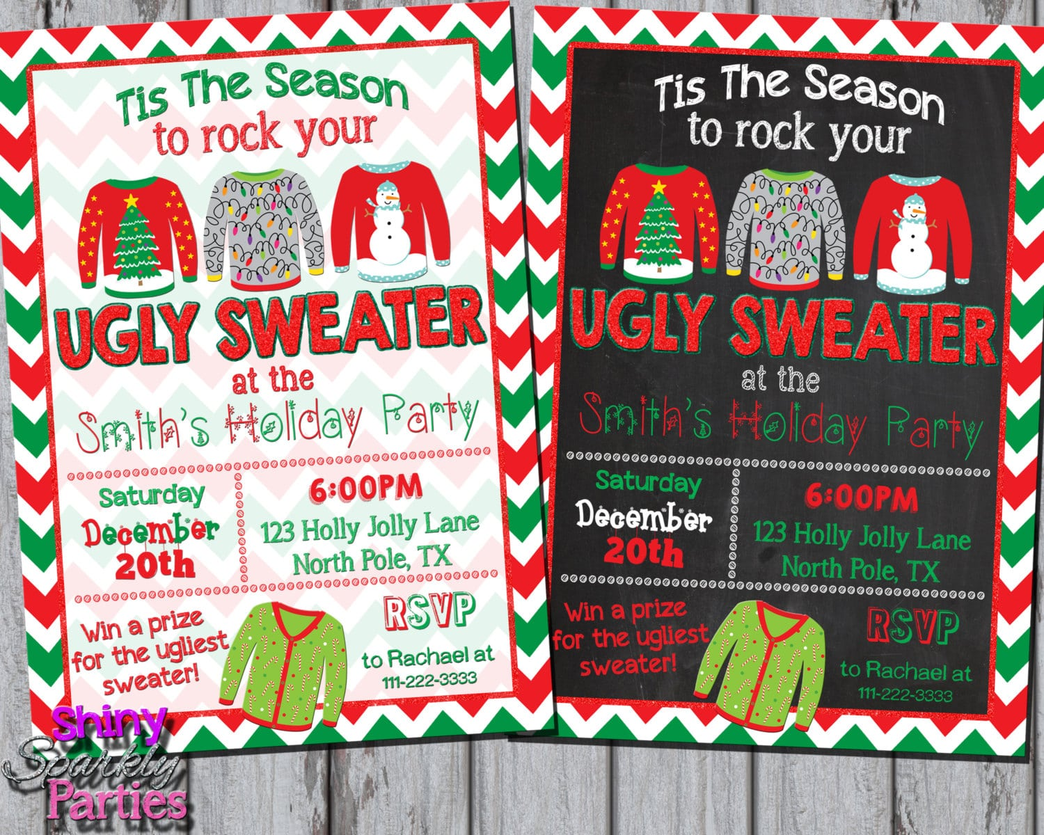 Ugly Sweater Invitation Ugly Christmas Sweater Party Invite