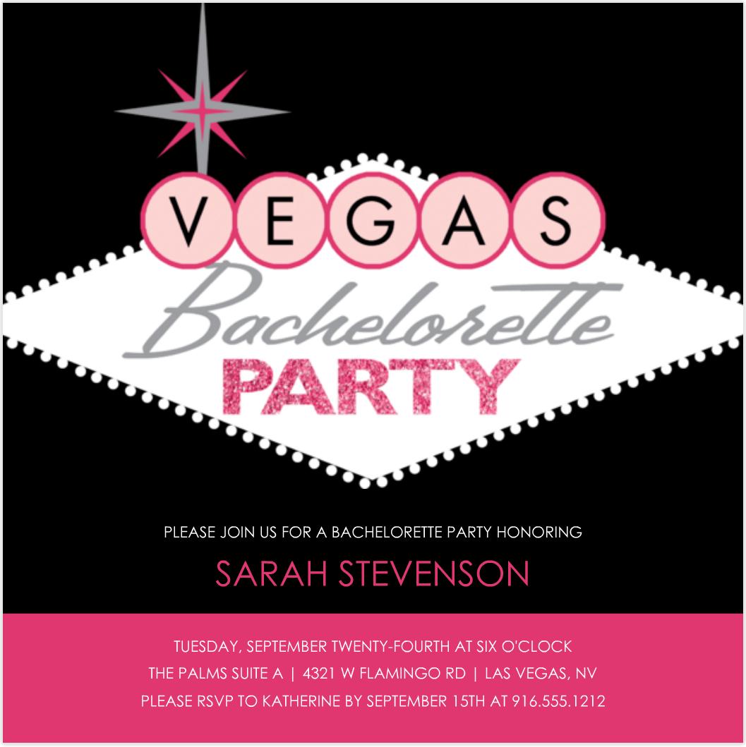 Vintage Bachelor Party Invitation Card Vegas   Emuroom