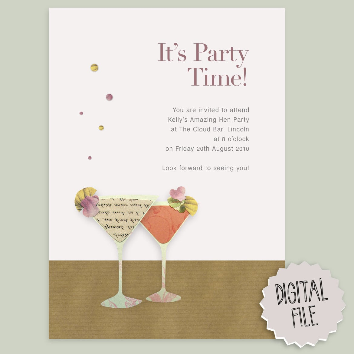 Wedding Cocktail Party Invitation