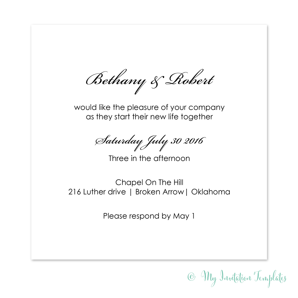 Wedding Invitation Templates Archives