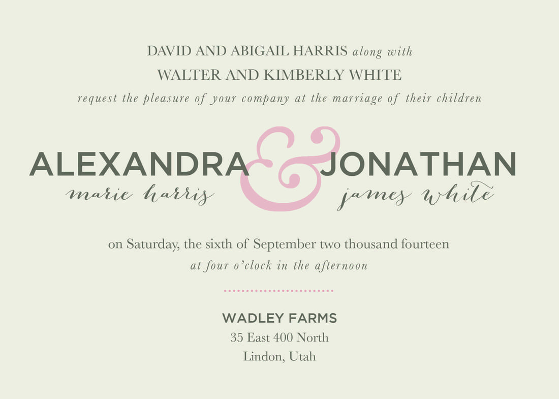 Wedding Party Invitation Wording