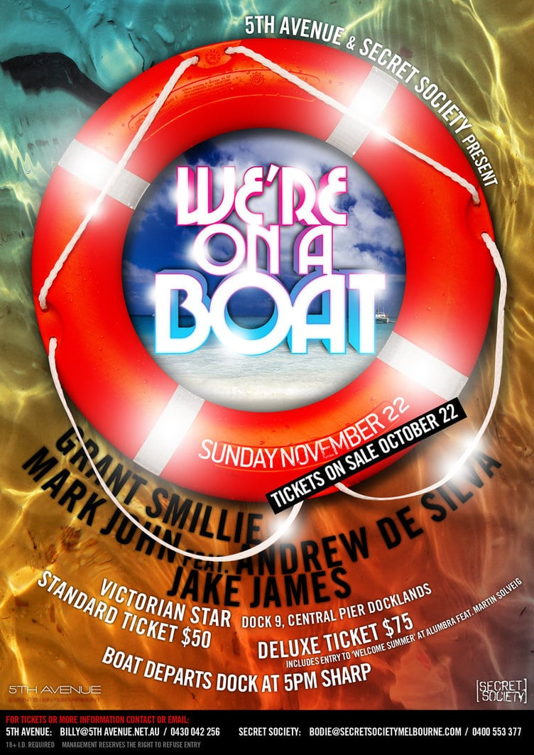 We're On A Boat Party Poster By Lazwah On Deviantart