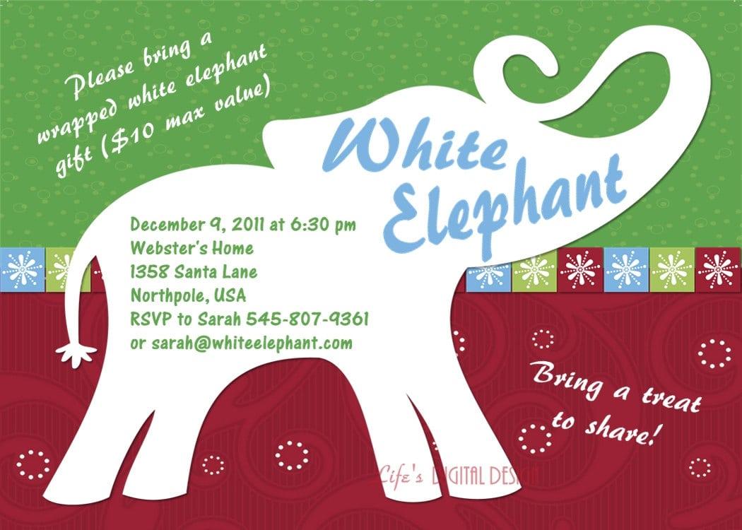 White Elephant Party Invitations – Gangcraft Net