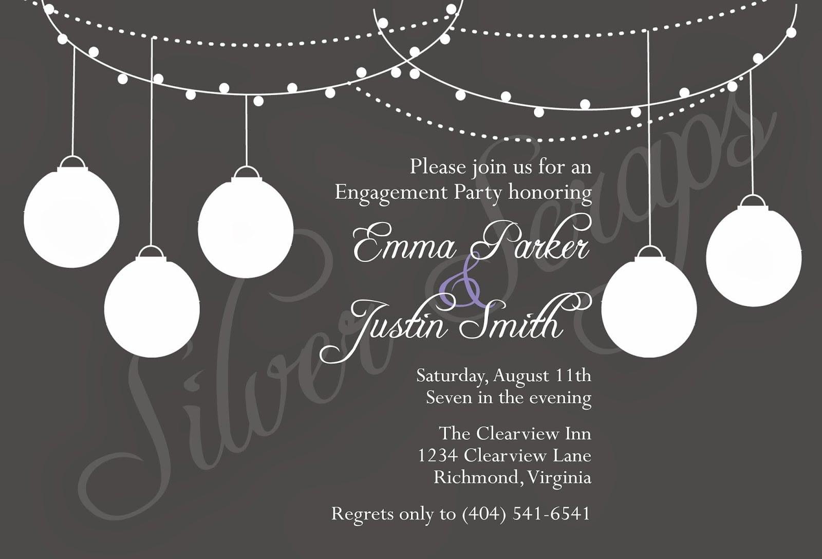 White Party Invites