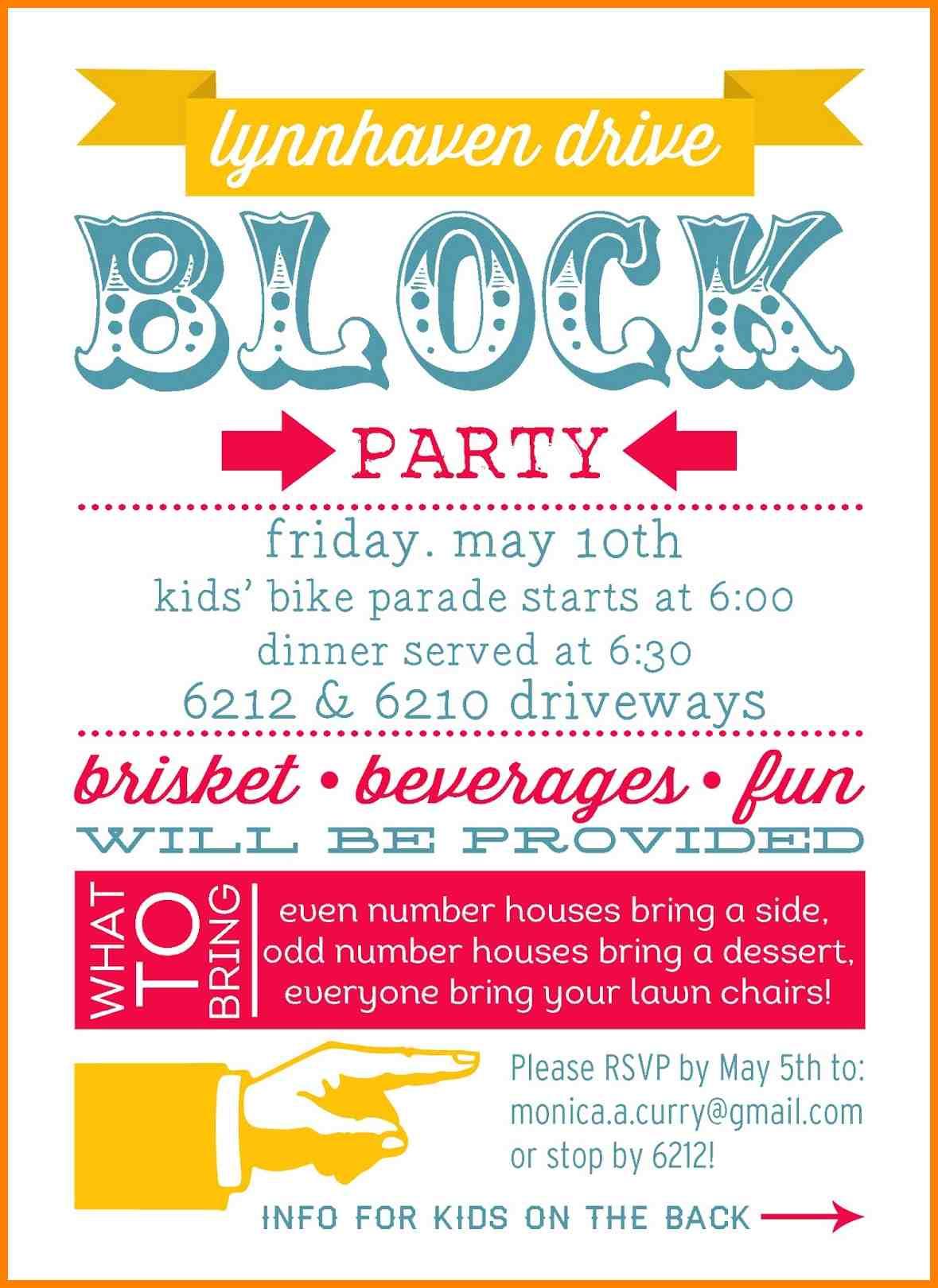 10+ Block Party Invitation Template