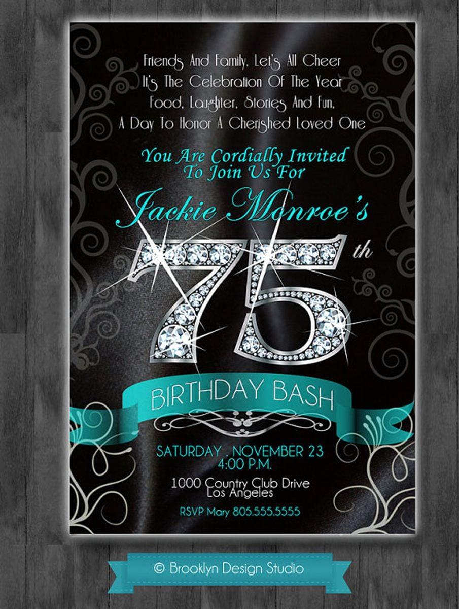 16+ 75th Birthday Invitations Unique Ideas