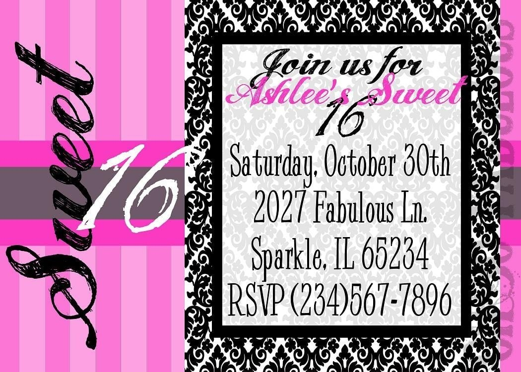 16th Party Invitations - Mickey Mouse Invitations Templates