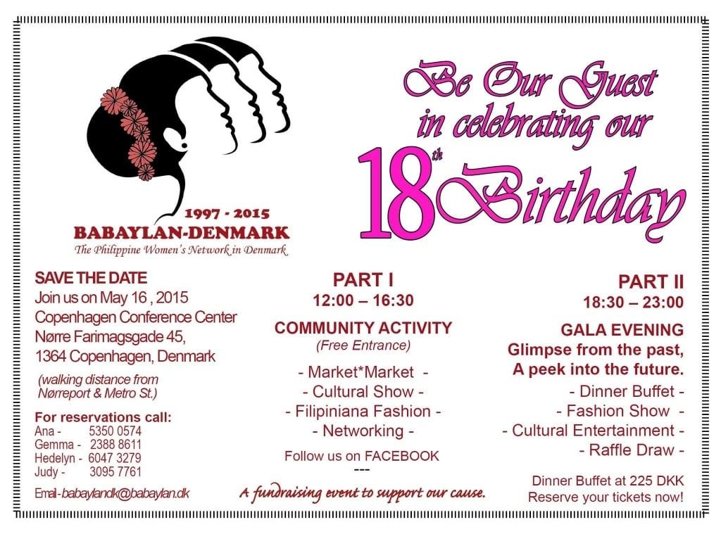 18th Birthday Invitation Wording Ideas