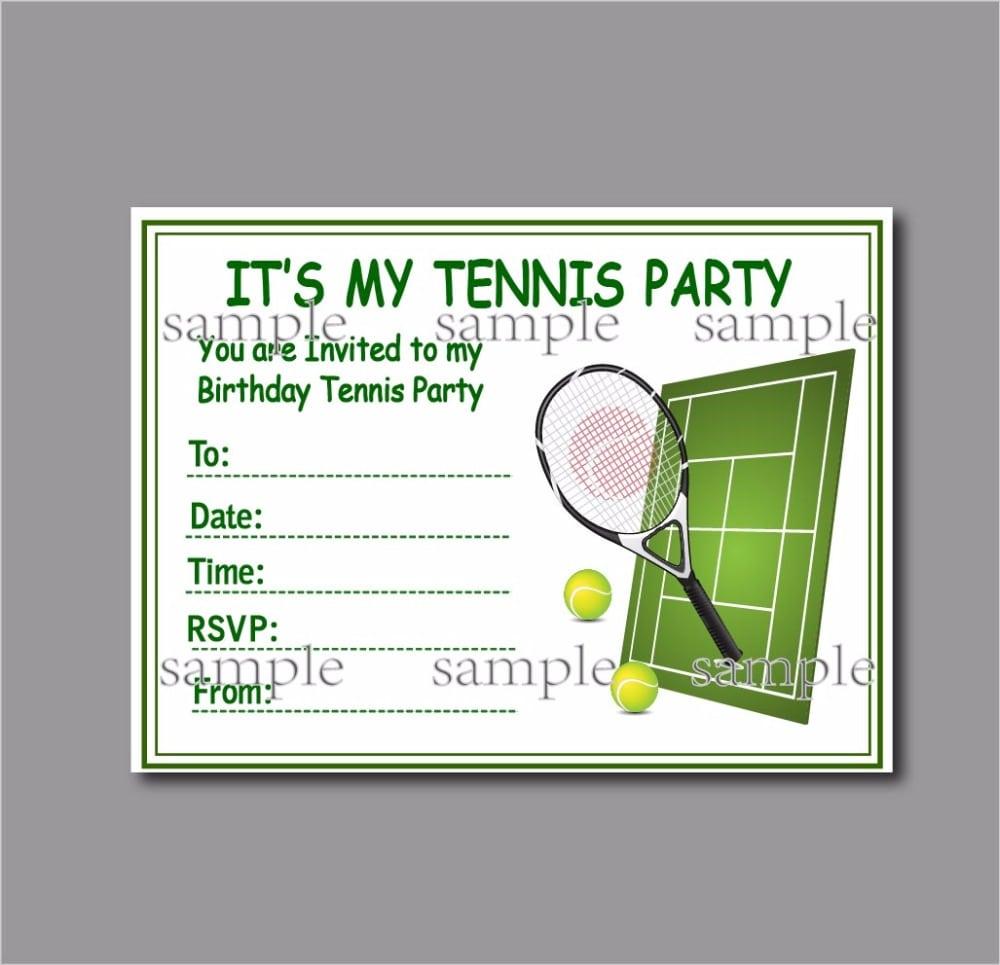 Tennis birthday party invitations filmwisefo