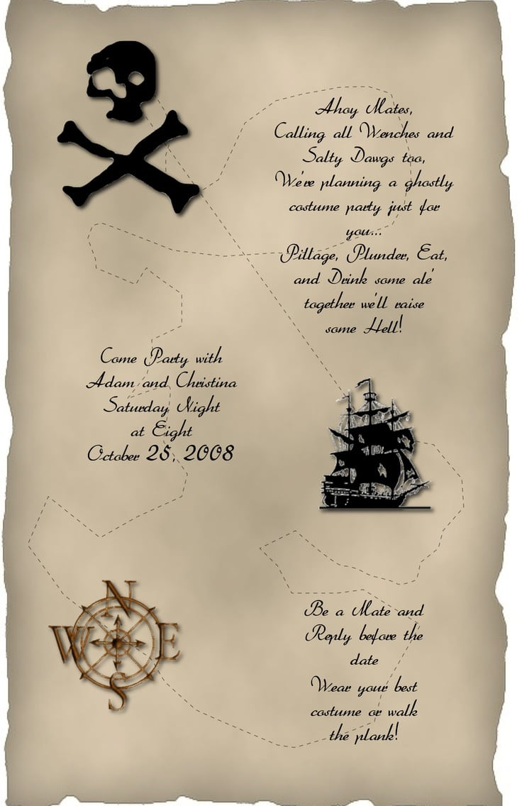 25 Images Of Adult Pirate Invitation Template