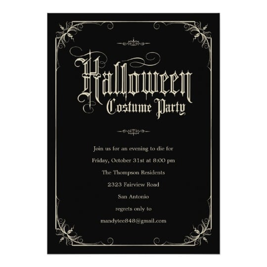 28 Images Of Halloween Costume Party Invitations Template