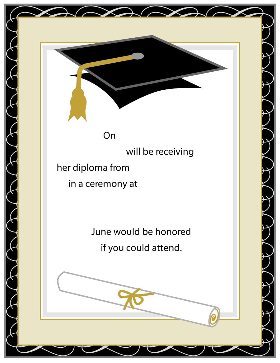 40+ Free Graduation Invitation Templates