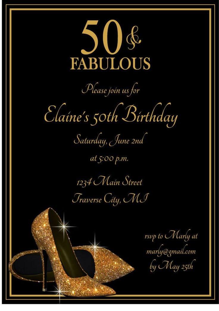 50th Birthday Party Invitations 50th Birthday Party Invitations