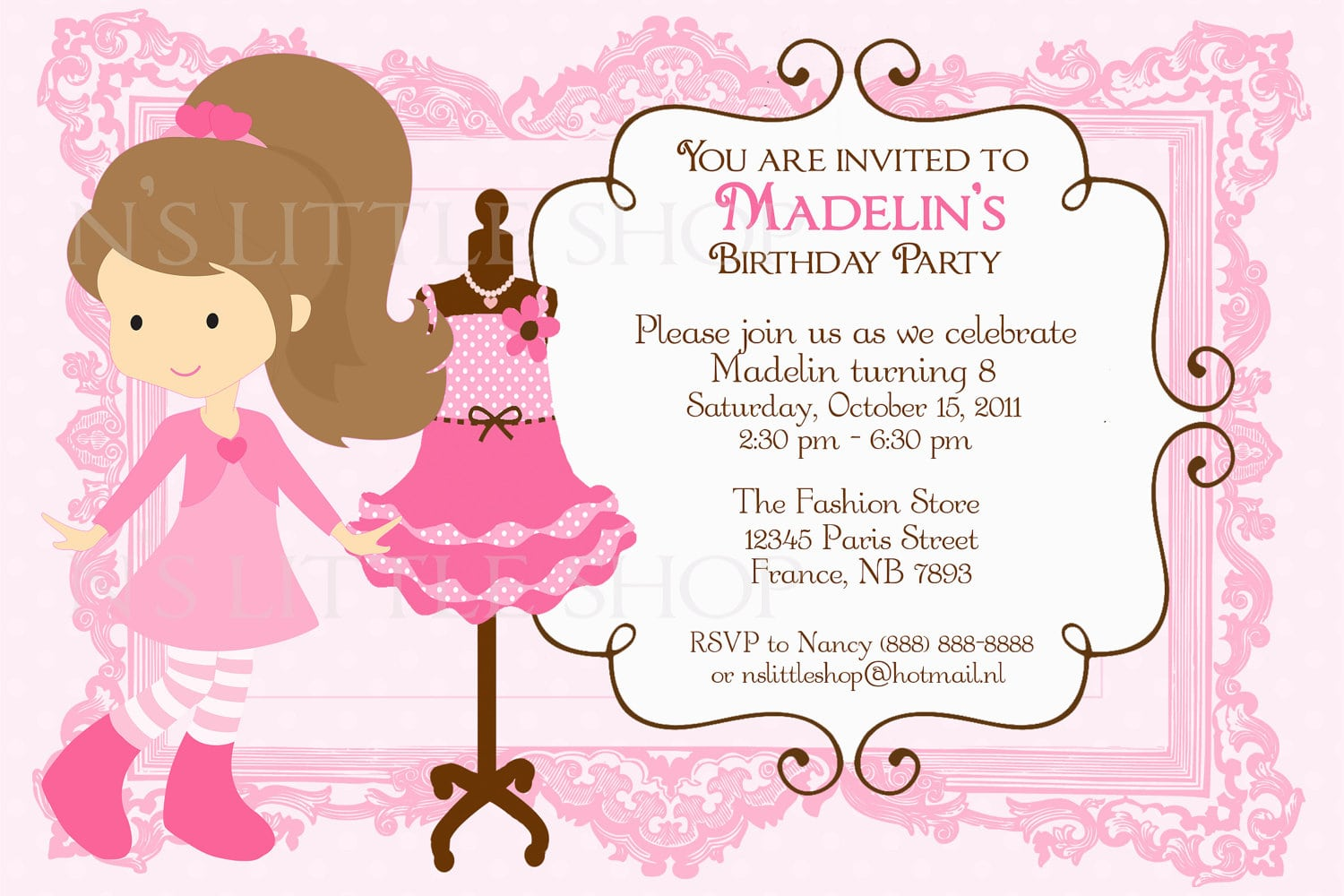 8 Brave Ladies Party Invitation Message
