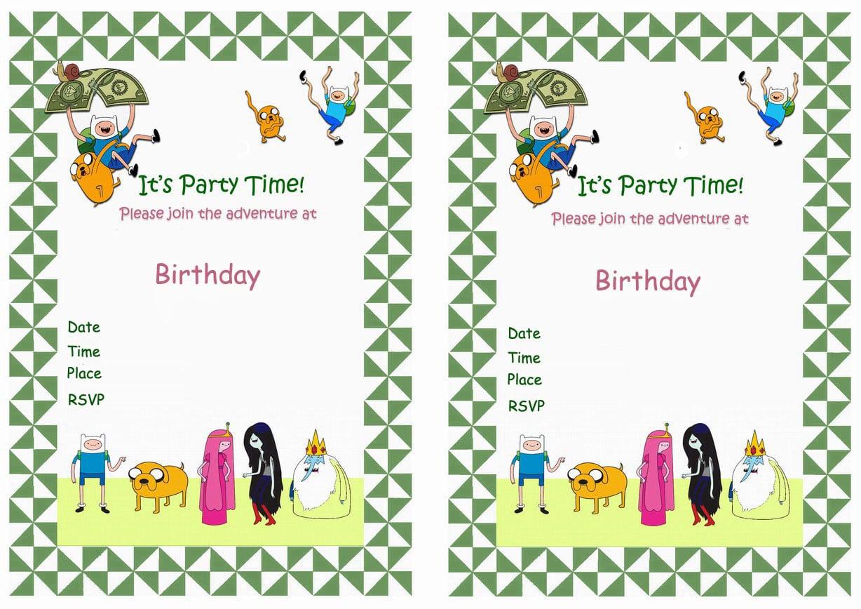 Adventure Time Birthday Invitations >> Adventure Time Birthday ...