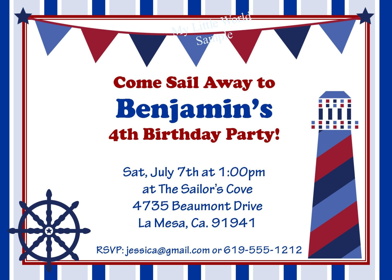 Amusing Nautical Birthday Invitations Which Can Be Used As Free