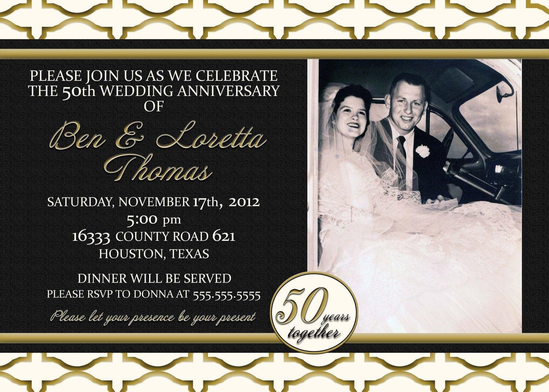 Anniversary Invitations   Personalized Anniversary Invitations