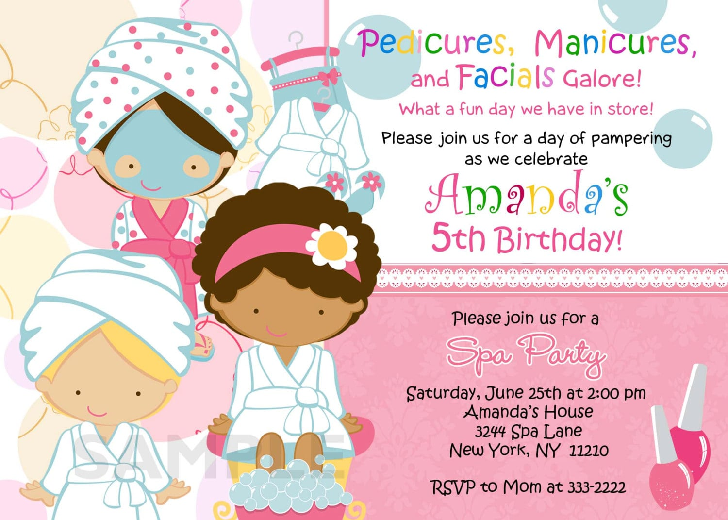 Astounding Spa Birthday Party Invitations As Birthday Party