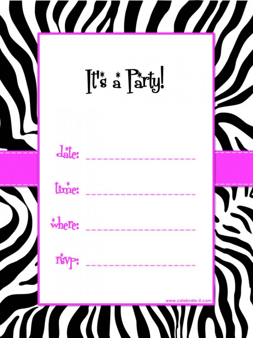 Attractive Free Printable Birthday Party Invitations As