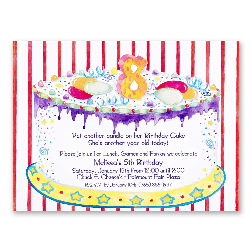 Awesome 8th Birthday Party Invitations Wording
