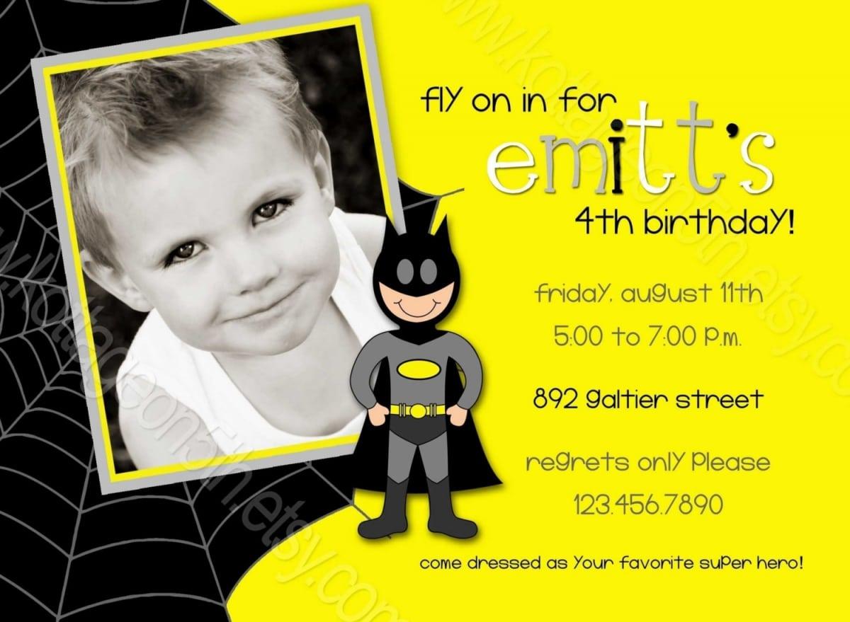 Batman Birthday Invitations Templates Ideas   Batman And Robin