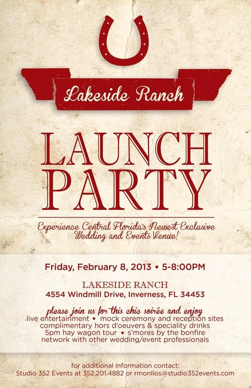Beautiful Launch Party Invitation  1446