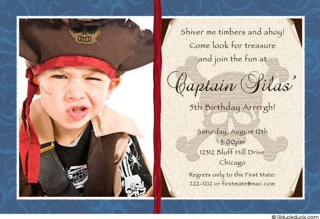 Beautiful Pirate Birthday Party Invitation At Amazing Article