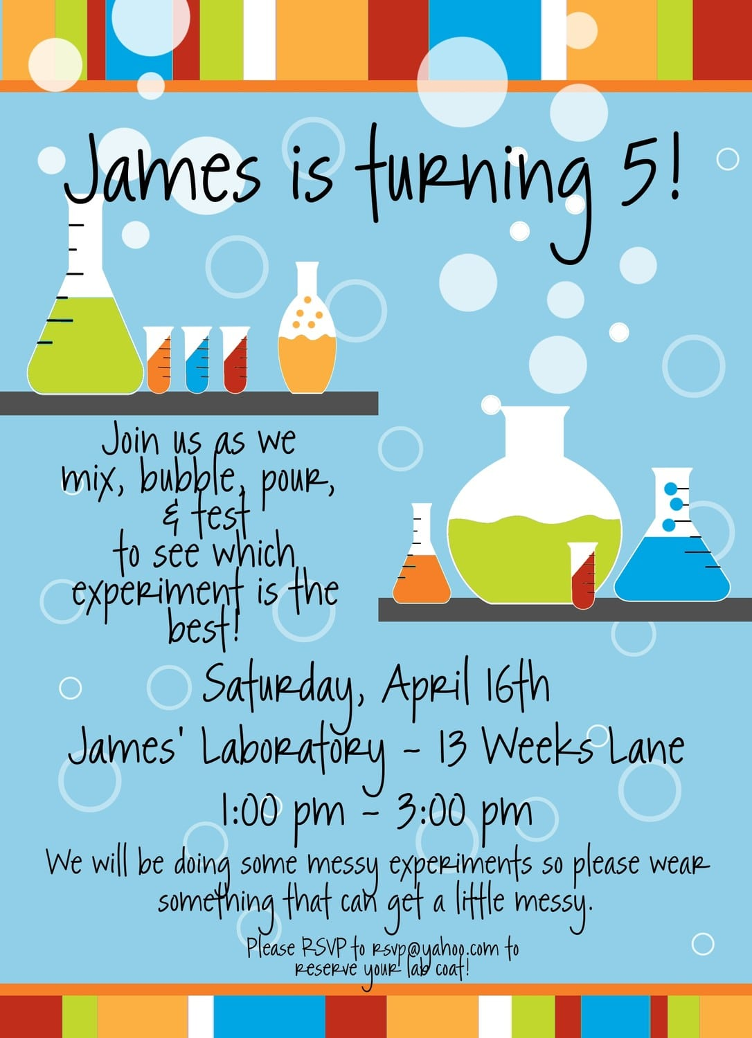Best Collection Of Science Birthday Party Invitations