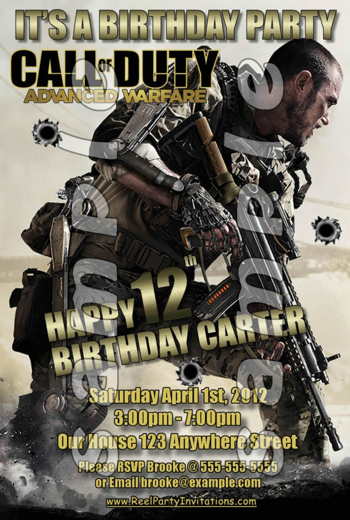 Call of duty party invitations filmwisefo
