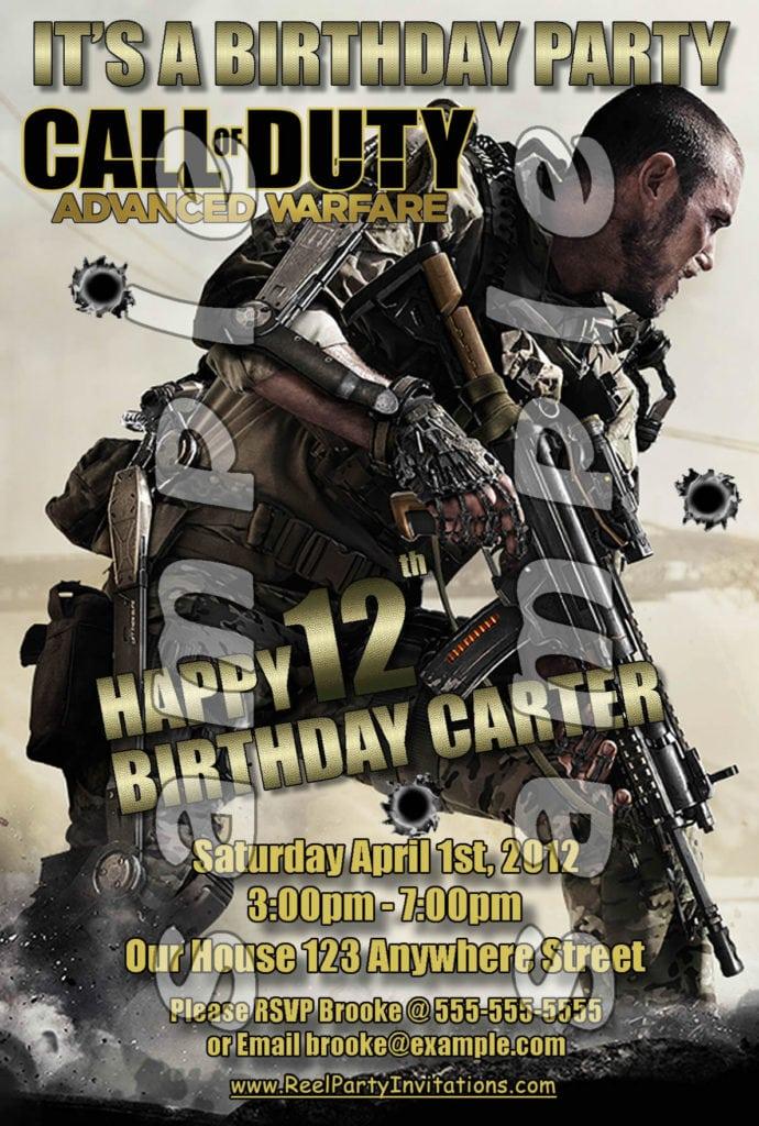 Birthday  Call Of Duty Birthday Invitations  Printable Call Of