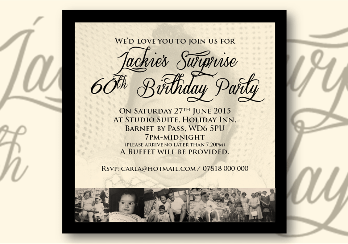 Birthday & Celebration Invitations For Any Occasion    Design By