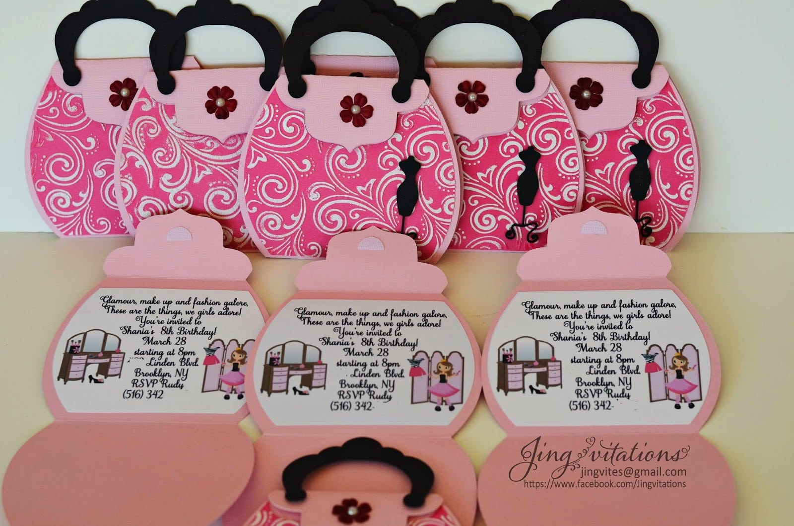 Birthday And Baby Shower Invitations  Fashion Party Invitations