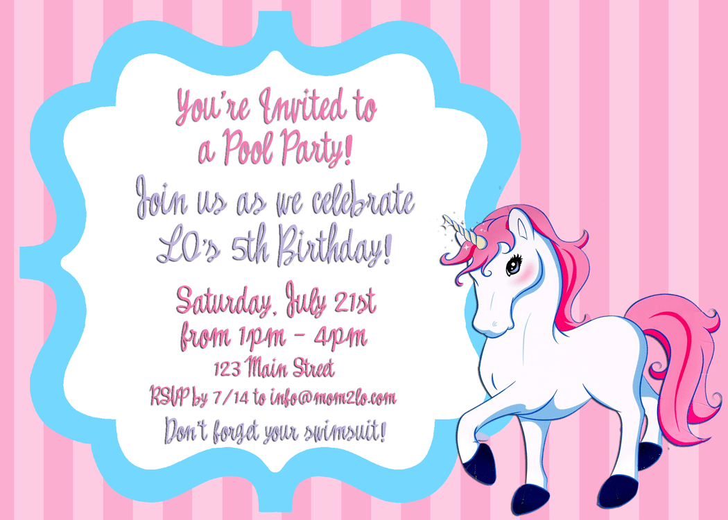 Birthday Invitation Examples