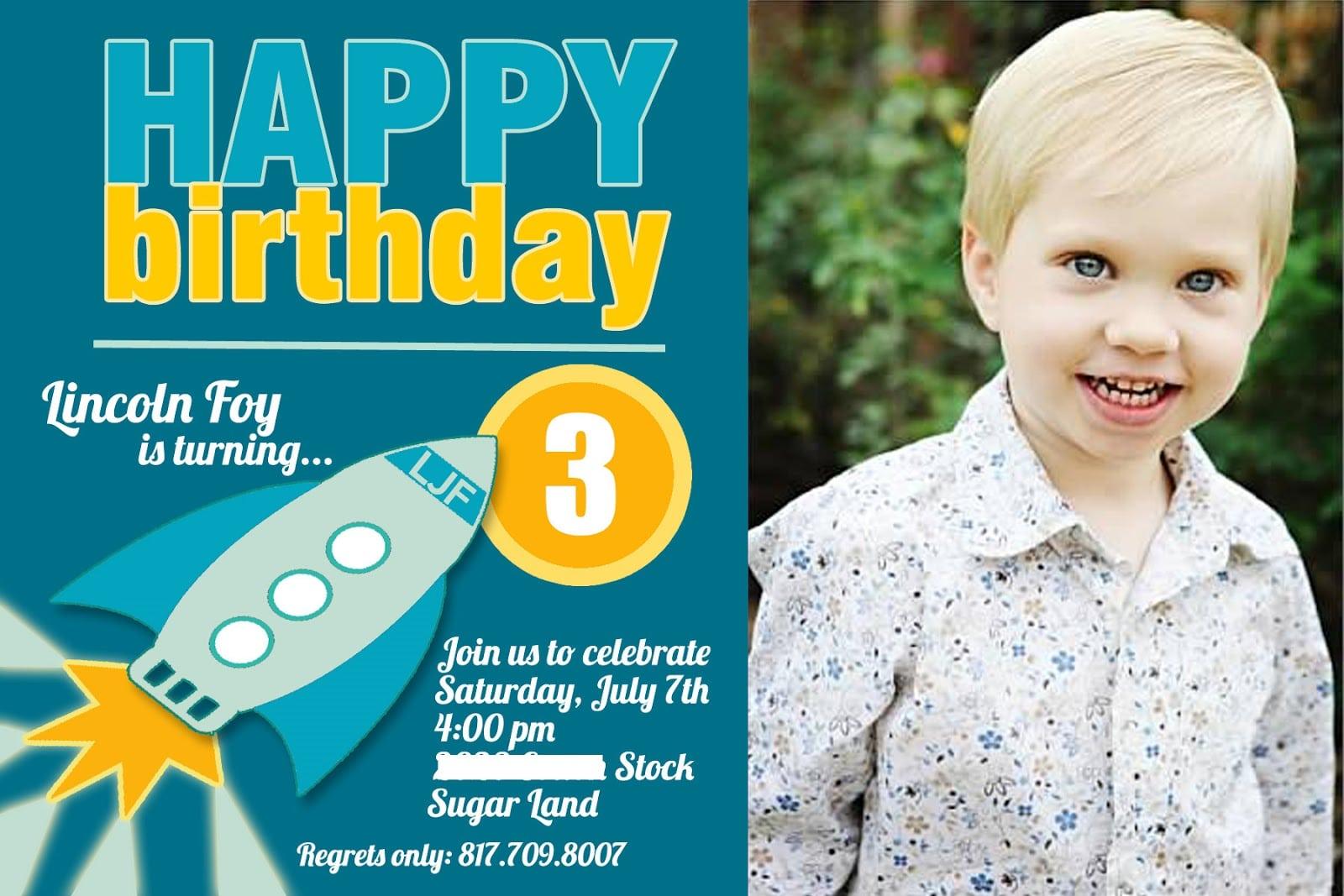 Birthday Invitation Wording For 5 Year Old