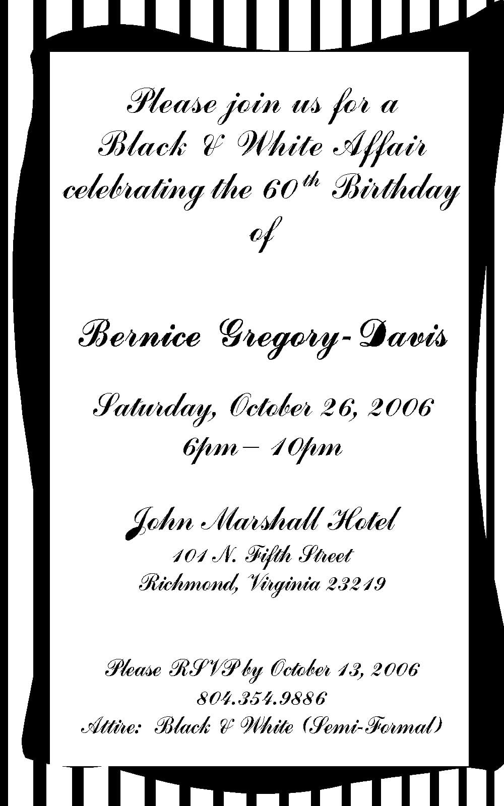 Birthday Invitation Wording Samples