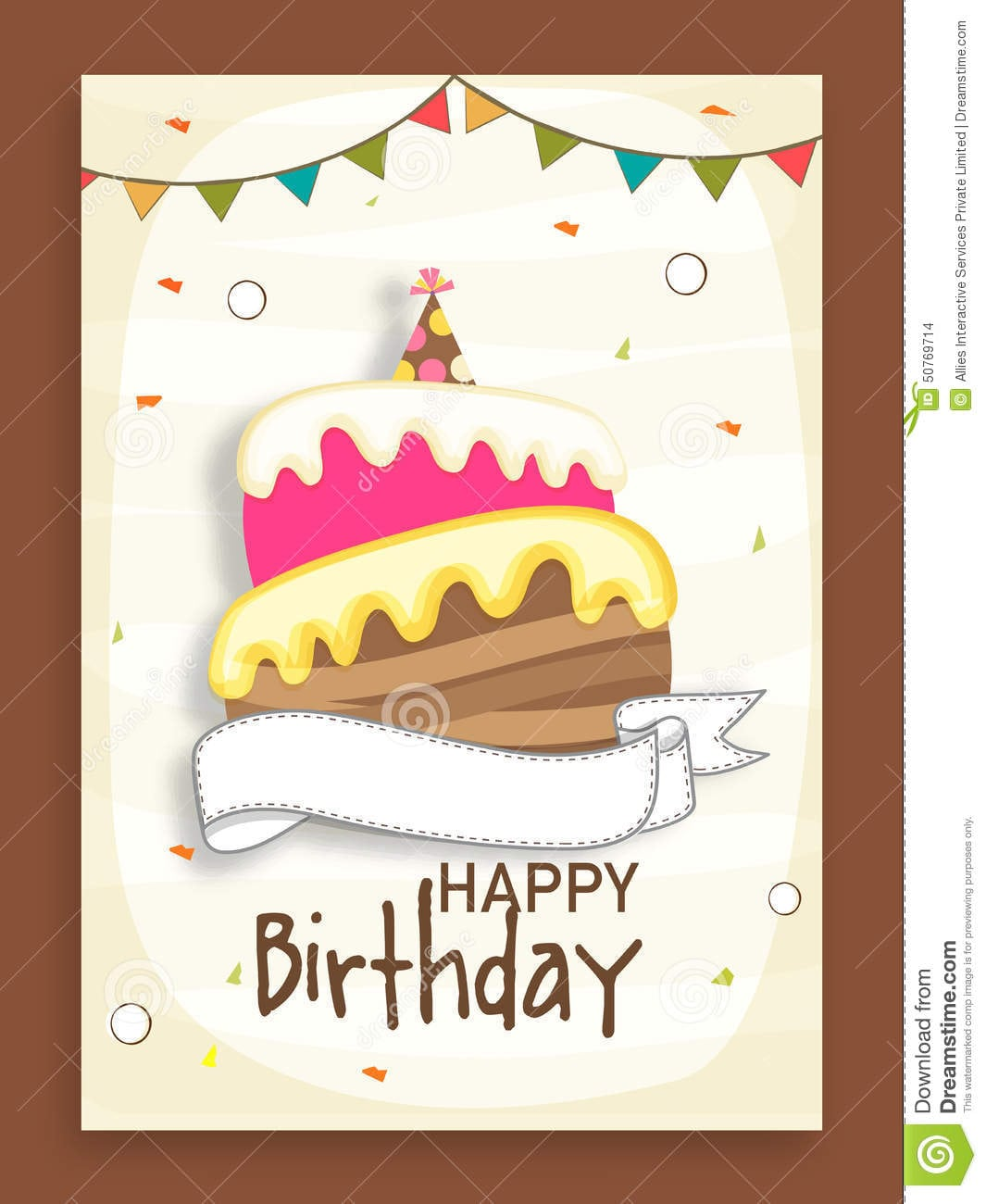 Birthday Party Celebration Invitation Card Design Stock Cake Boss